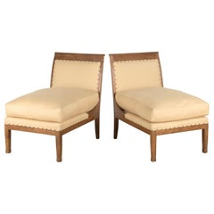 Pair of 19th Century French Directoire Slipper Chairs