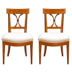 Pair of 19th Century, French Directoire Style Cherrywood Chair