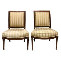 Pair of 19th Century French Directoire Style Side Chairs