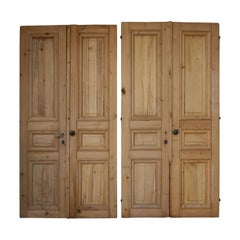 Pair of 19th Century French Double Doors Made of Pine