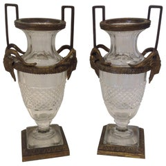 Pair of 19th Century French Empire Style Urns
