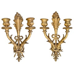Pair of 19th Century French Giltwood Sconces