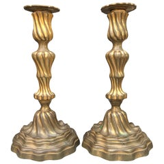 Pair of 19th Century French Louis XV Style Candlesticks