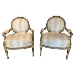 Pair of 19th Century French Louis XVI Fauteuils