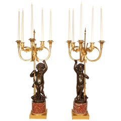 Pair of 19th Century French Louis XVI Style Candelabras