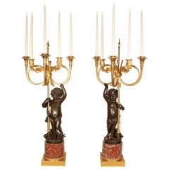 Pair of 19th Century French Louis XVI Style Candelabra