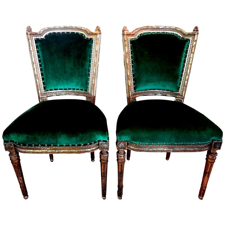 Louis XVI–style chairs, 1850s, offered by Kirby Antiques