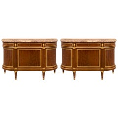 Pair of 19th Century French Louis XVI Style Mahogany Buffets
