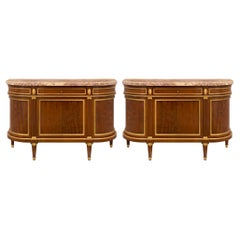 Pair of 19th Century French Louis XVI Style Mahogany Buffets
