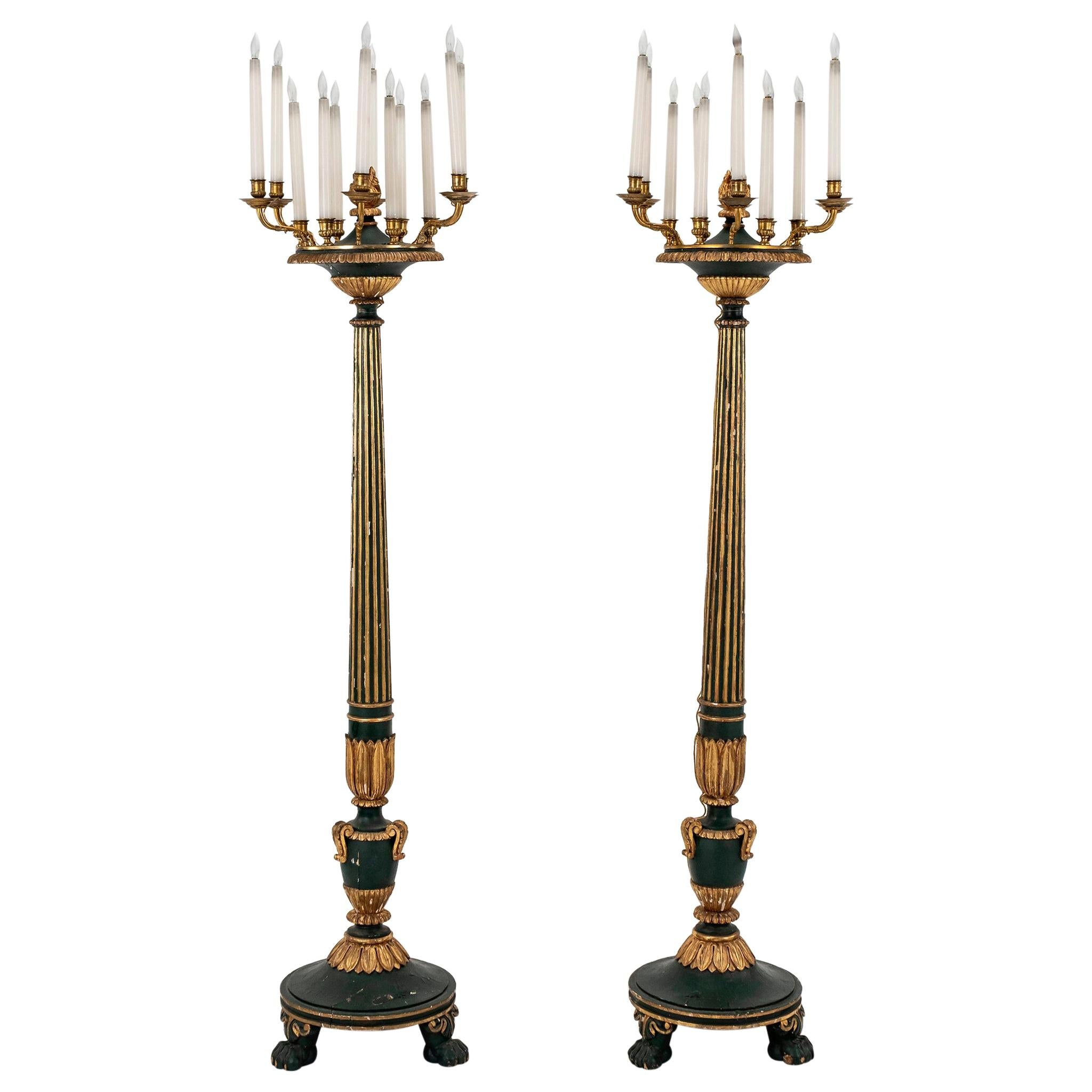 Pair of 19th Century French Louis XVI Style Torchieres