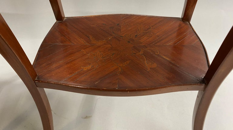 Pair of 19th Century French Marquetry One-Drawer End Tables For Sale 4