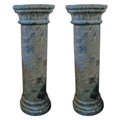 Pair of 19th Century French Neoclassical Style Marble Pedestals