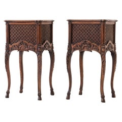 Pair of 19th Century French Oak Bedside Tables