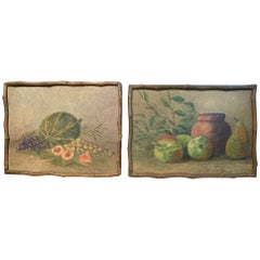 Pair of 19th Century French Oil Paint