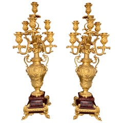 Pair of 19th Century French Ormolu Candelabras by Barbedienne