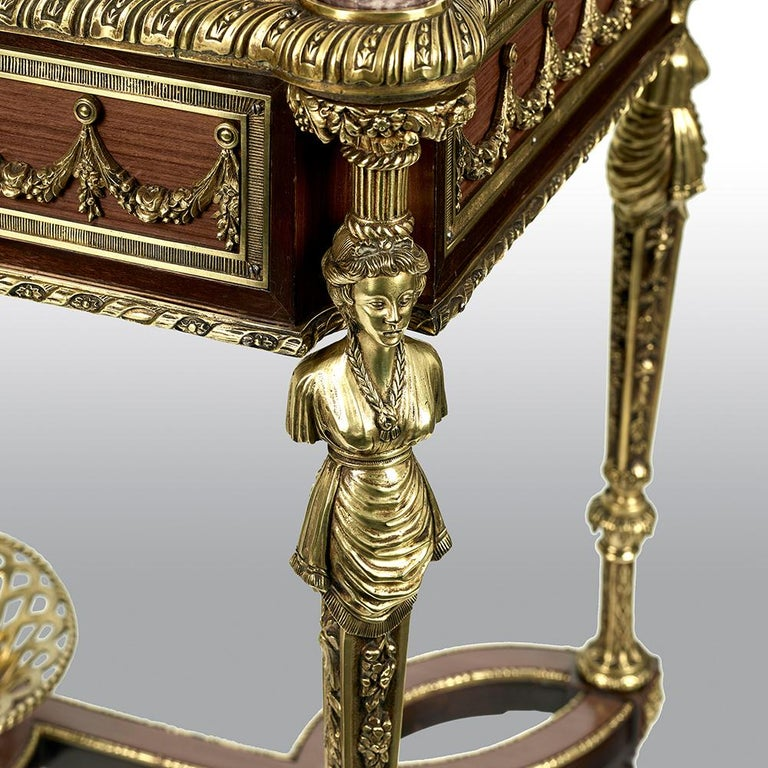 Pair of 19th Century French Ormolu-Mounted Mahogany Table De Milieu For Sale 10