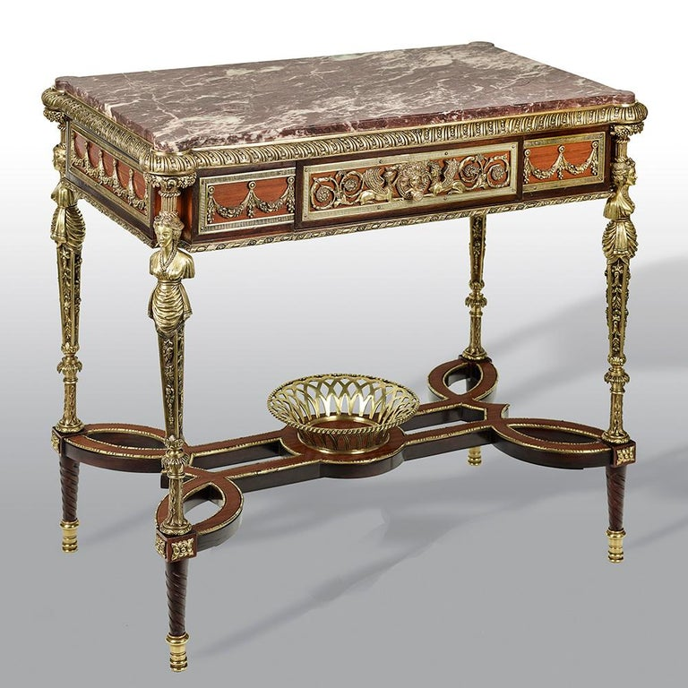 Pair of 19th Century French Ormolu-Mounted Mahogany Table De Milieu In Good Condition For Sale In Uckfield, Sussex