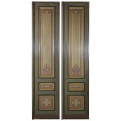 Pair of French Painted Paneling Doors