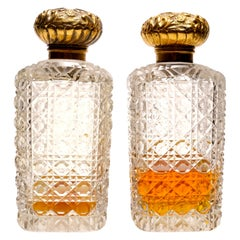 Pair of 19th Century French Perfume Bottles