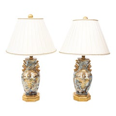 Pair of 19th Century French Porcelain Lamps