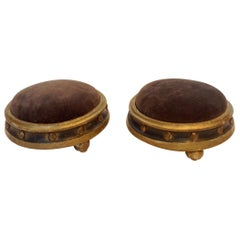 Pair of 19th Century French Pouf Form Footstools