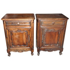 Pair of 19th Century French Provincial Fruitwood Side Cabinets