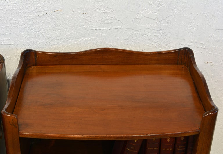 Pair of 19th Century French Provincial Walnut One-Drawer Side Tables or Stands 6