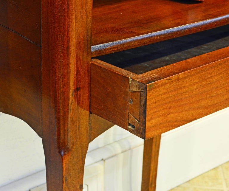 Pair of 19th Century French Provincial Walnut One-Drawer Side Tables or Stands 3