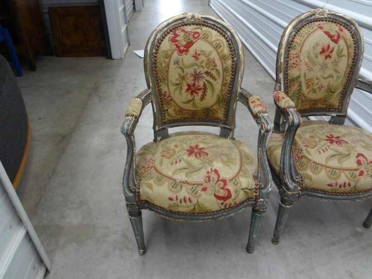 Pair of 19th Century French Régence Style Children's Chairs For Sale 5
