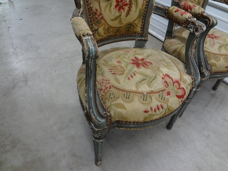 Pair of 19th Century French Régence Style Children's Chairs For Sale 6
