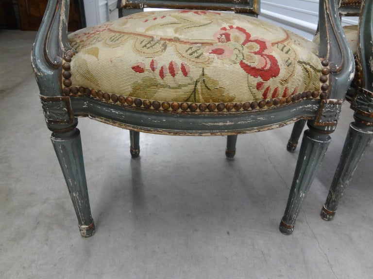 Pair of 19th Century French Régence Style Children's Chairs For Sale 7