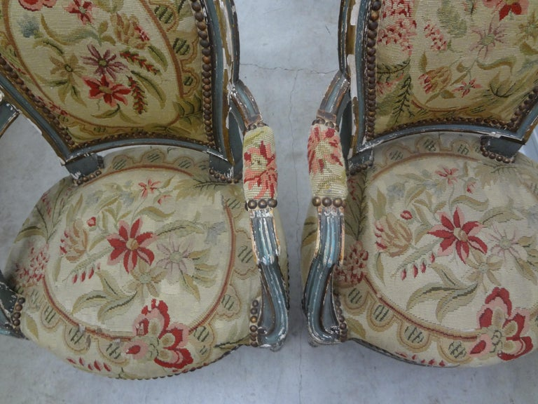 Pair of 19th Century French Régence Style Children's Chairs For Sale 8