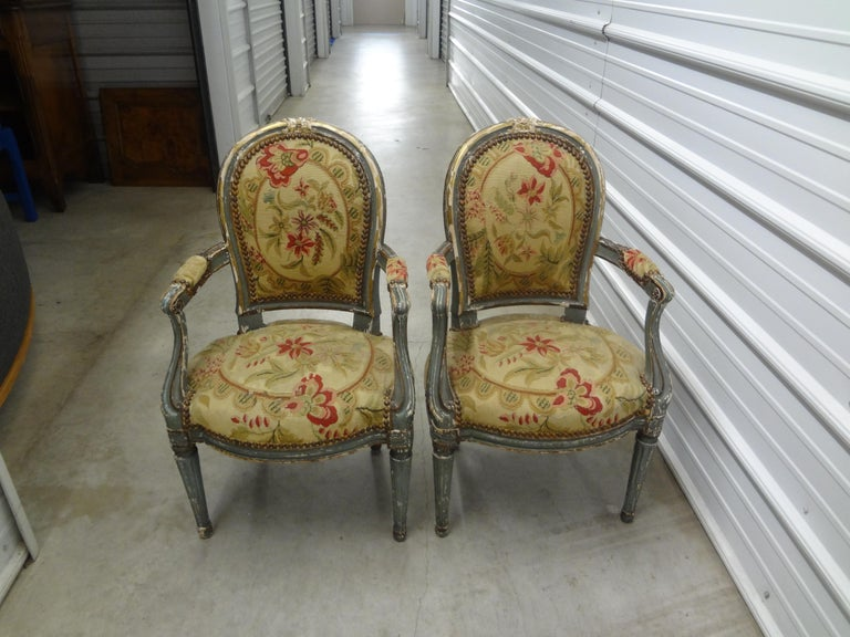 Pair of 19th Century French Régence Style Children's Chairs For Sale 9