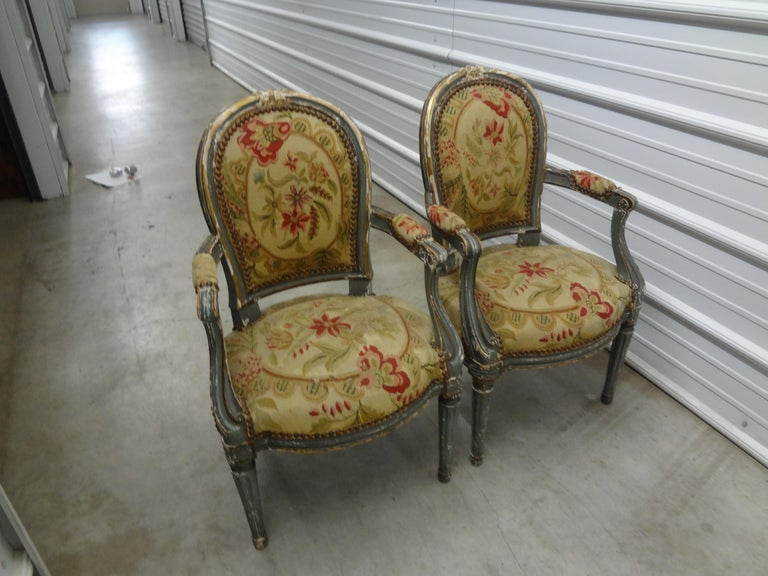Pair of 19th Century French Régence Style Children's Chairs For Sale 10