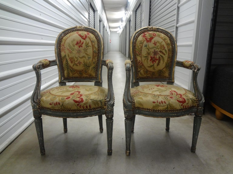 Pair of 19th Century French Régence Style Children's Chairs For Sale 11