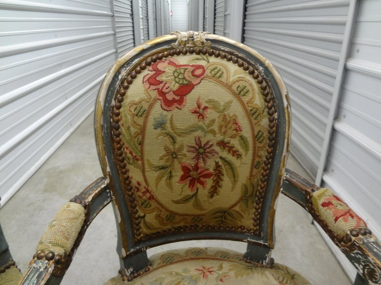 Pair of 19th Century French Régence Style Children's Chairs For Sale 1