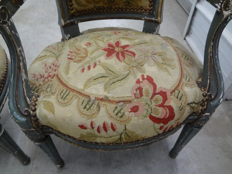 Pair of 19th Century French Régence Style Children's Chairs For Sale 2