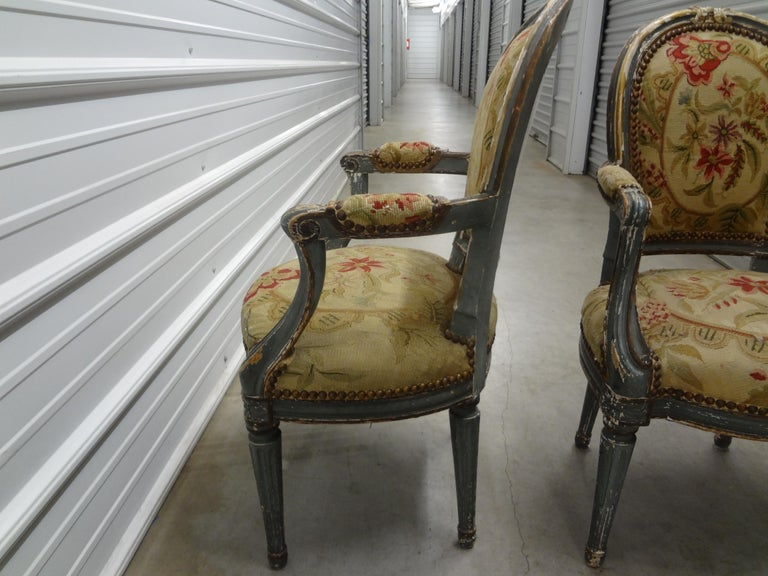 Pair of 19th Century French Régence Style Children's Chairs For Sale 3