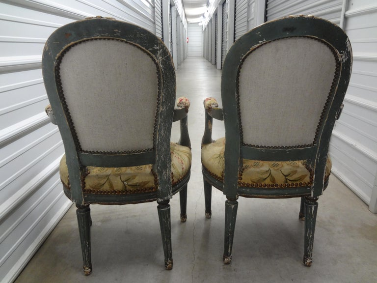 Pair of 19th Century French Régence Style Children's Chairs For Sale 4