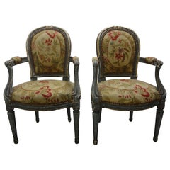Pair of 19th Century French Régence Style Children's Chairs