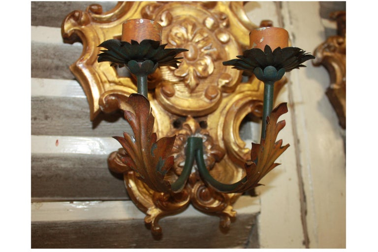 Pair of 19th Century French Sconces For Sale 6