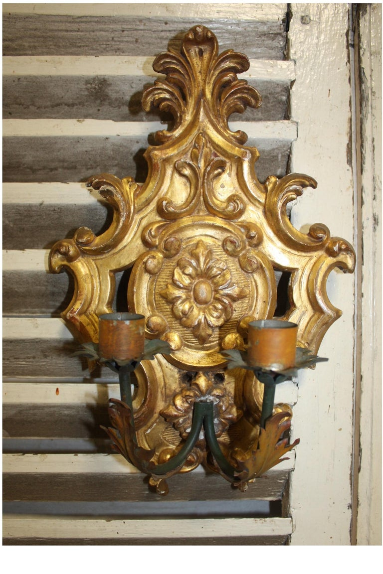 Louis XIV Pair of 19th Century French Sconces For Sale