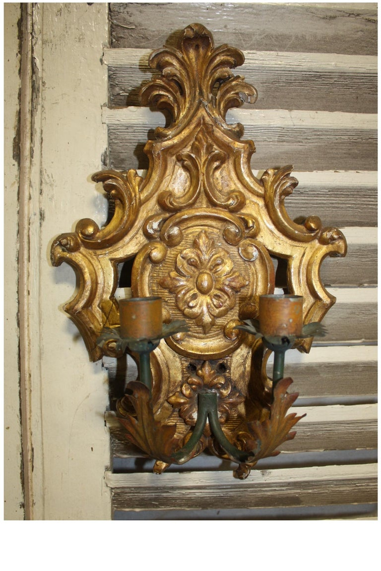 Pair of 19th Century French Sconces In Excellent Condition For Sale In Atlanta, GA
