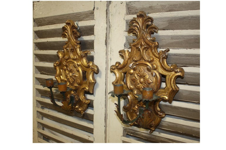 Pair of 19th Century French Sconces For Sale 2
