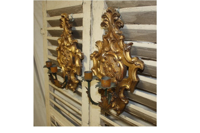 Pair of 19th Century French Sconces For Sale 3