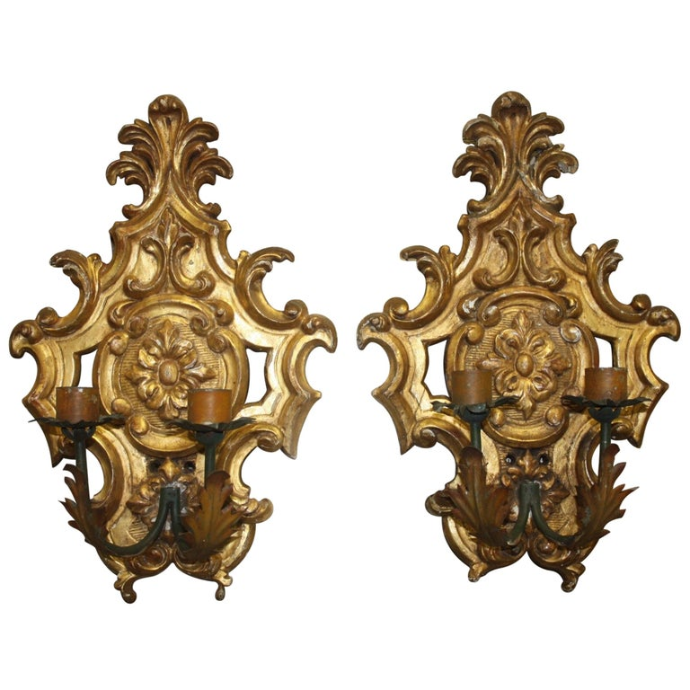 Pair of 19th Century French Sconces For Sale