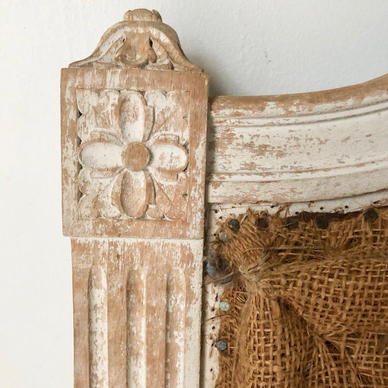 Hand-Carved Pair of 19th Century French Single Beds