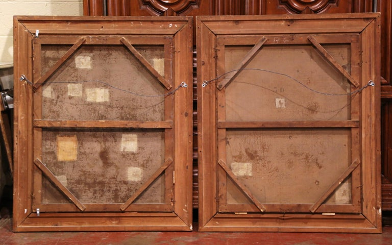 Pair of 19th Century French Still Life Flower Paintings in Gilt Frames For Sale 5