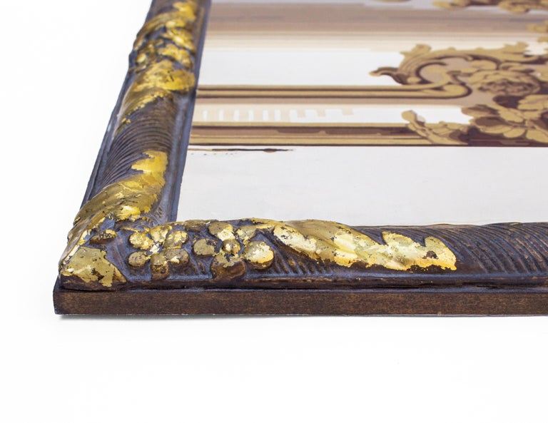 Baroque Pair of 19th Century French Wallpaper Panels For Sale