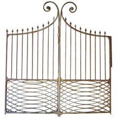 19th Century French Wrought Iron Entrance Gates